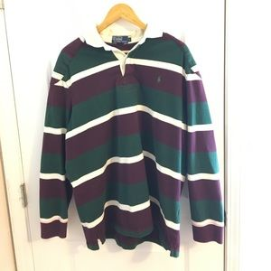 Striped Ralph Lauren Collared Rugby Padded Shirt